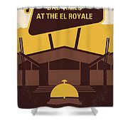No1044 My Bad Times At The El Royale Minimal Movie Poster Shower Curtain