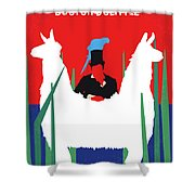 No1048 My Doctor Dolittle Minimal Movie Poster Shower Curtain