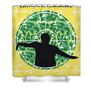 No1049 My Central Intelligence Minimal Movie Poster Shower Curtain