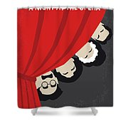 No1053 My A Night At The Opera Minimal Movie Poster Shower Curtain