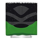 No1067 My Flight Of The Navigator Minimal Movie Poster Shower Curtain