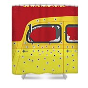 No1072 My Bonnie And Clyde Minimal Movie Poster Shower Curtain