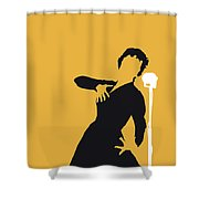 No224 My Edith Piaf Minimal Music Poster Shower Curtain