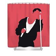 No242 My Depeche Mode Minimal Music Poster Shower Curtain