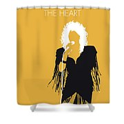 No264 My Bonnie Tyler Minimal Music Poster Shower Curtain