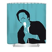 No265 My Ben E King Minimal Music Poster Shower Curtain