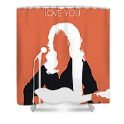 No273 My Dolly Parton Minimal Music Poster Shower Curtain