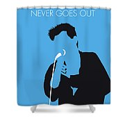 No289 My The Smiths Minimal Music Poster Shower Curtain