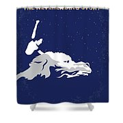 No975 My The Neverending Story Minimal Movie Poster Shower Curtain