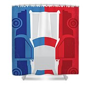 No982 My The French Connection Minimal Movie Poster Shower Curtain