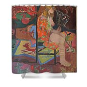 Noa With Animal Mask Shower Curtain