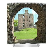Norham Castle And Entrance Gate Shower Curtain