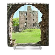 Norham Castle And Tower Through The Entrance Gate Shower Curtain