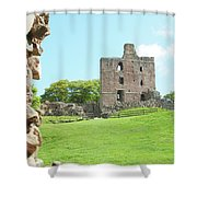 Norham Castle Tower Shower Curtain