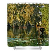 North Dock Peace Shower Curtain