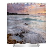 North Shore Sunset Surge Shower Curtain