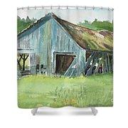 Northern State Farm, Skagit Valley Shower Curtain