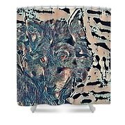 Not A Big Bad Wolf Shower Curtain
