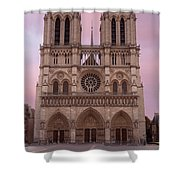 Notre Dame Cathedral Dawn Shower Curtain by Jemmy Archer