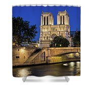 Notre Dame Cathedral Evening Shower Curtain by Jemmy Archer