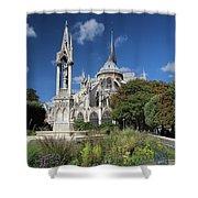 Notre Dame Garden Shower Curtain by Jemmy Archer