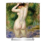 Nude Wading, Circa 1880 Shower Curtain