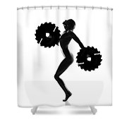Nude Woman With Saw Blade 4 Shower Curtain