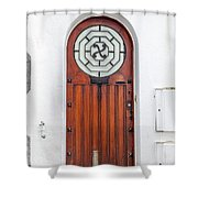 Number 4, Biarritz France Shower Curtain