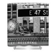 Nyc In Black And White Xii Shower Curtain