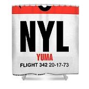 Nyl Yuma Luggage Tag I Shower Curtain