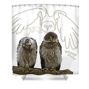 O Is For Owl Shower Curtain