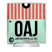 Oaj Jacksonville Luggage Tag I Shower Curtain