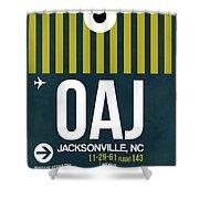 Oaj Oaj Jacksonville Luggage Tag I Luggage Tag I Shower Curtain