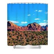 Oak Creek Jack's Canyon Blue Sky Clouds Red Rock 0228 3 Shower Curtain