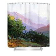 Oaks In The Mountains Of Carrara Shower Curtain