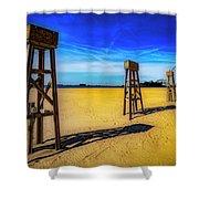 Ocean City Beach Shower Curtain by Paul Wear