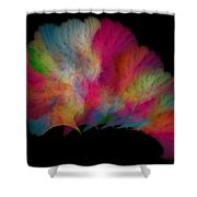 Ocean Fan Coral  Detailed Fractal  Shower Curtain