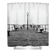 Ocean Grove Pier 1 Shower Curtain
