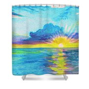 Ocean In The Morning Shower Curtain