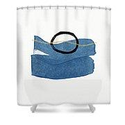 Ocean Zen 1- Art By Linda Woods Shower Curtain