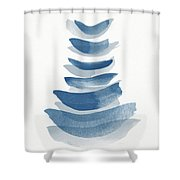 Ocean Zen 2 - Art By Linda Woods Shower Curtain
