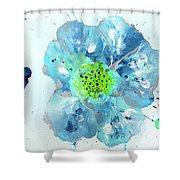 Oceanbreeze Blue-green Windflower Shower Curtain