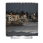 Oceanside California Beach Front Shower Curtain