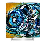 Ochre Fish Four Shower Curtain