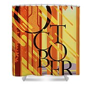 October In Michigan Shower Curtain
