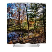 October Late Afternoon Shower Curtain by Kendall McKernon