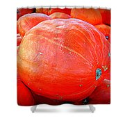 October Pumpkin Shower Curtain