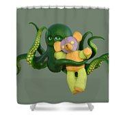 Octopus Green And Bear Shower Curtain