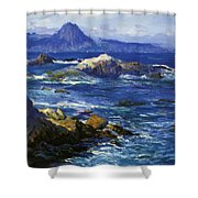 Off Mission Point Aka Point Lobos Shower Curtain