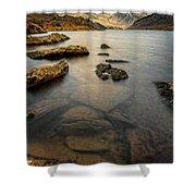 Ogwen Lake Snowdonia Shower Curtain by Adrian Evans